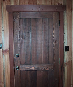 Reclaimed Materials such as Reclaimed Wood, Antique Door Panels