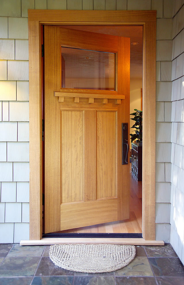 Reclaimed wood front entry wood door for Wood entrance doors residential