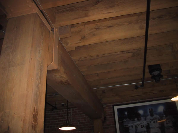SF Giants Building Reclaimed Sandblasted Timbers