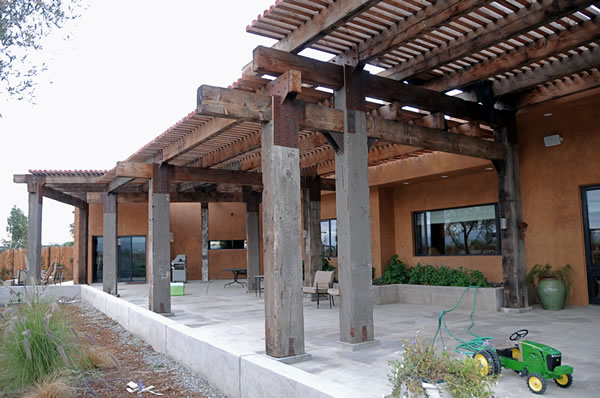 Reclaimed timbers recycled beams