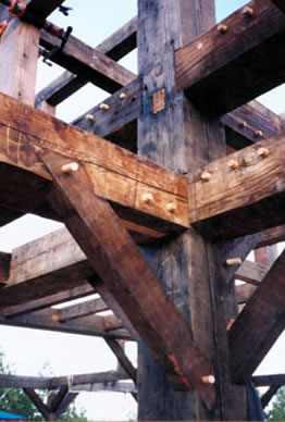 Old Patina Reclaimed used in Timber Frame Construction