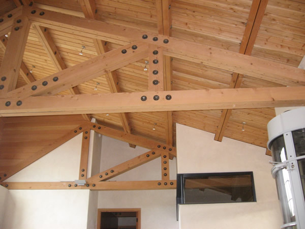 Resawn Timbers in Ceiling Trusses