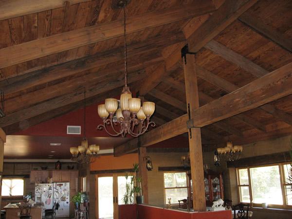 Painted Wood Beams On Ceiling